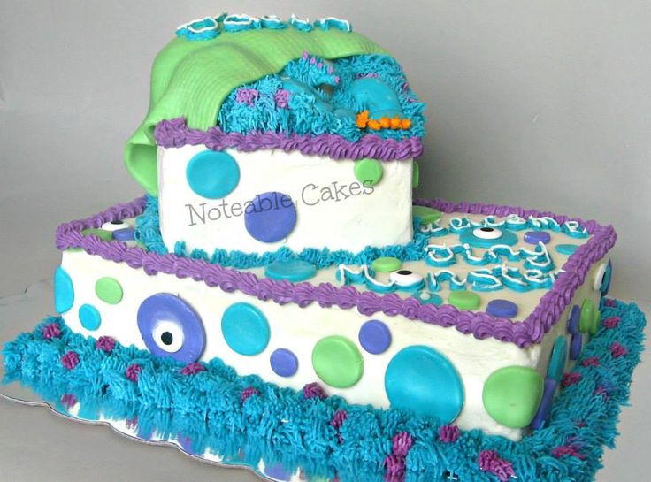 - *Monster's Inc inspired baby shower cake. I was given a pic of a cake from customer asking to do something similar.