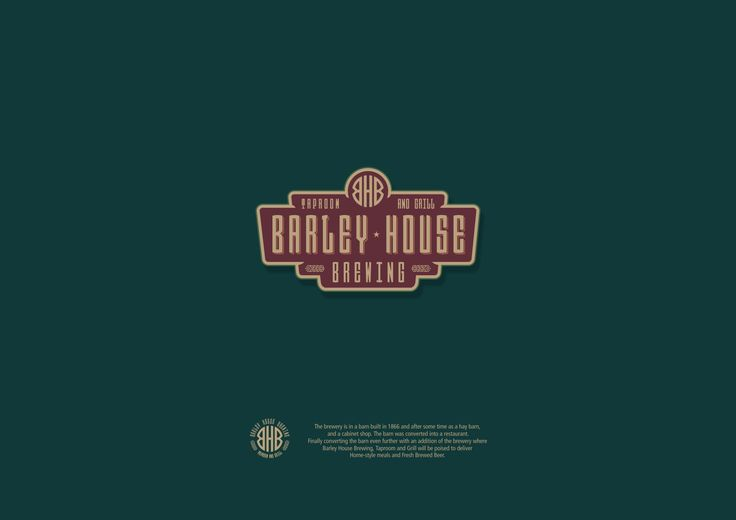 Barley House Brewing Taproom & Grill logo concept
