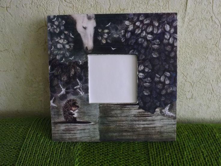 "IKEA Malma Mirror ( Collage. Cartoon ""Hedgehog in the fog"" ) :)"