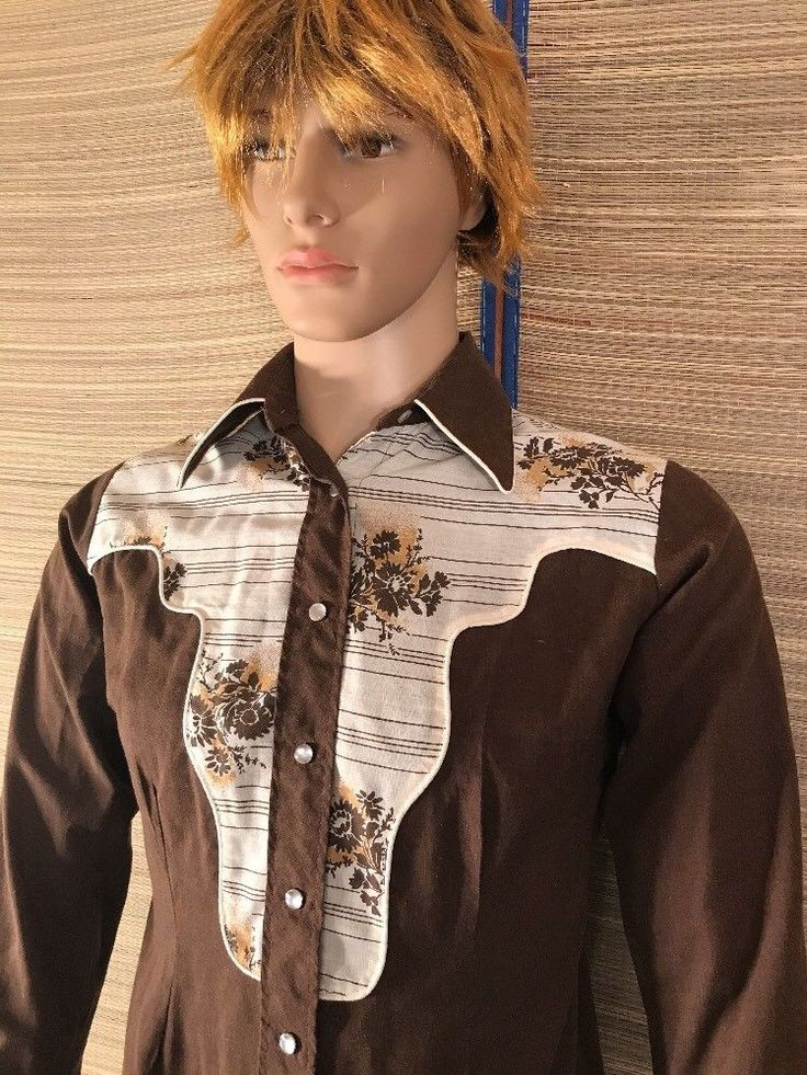 VTG H Bar C X-SMALL Sz 10 Western women's Cowgirl Shirt Pearl Snap rodeo 70s old #HBarC #Casual