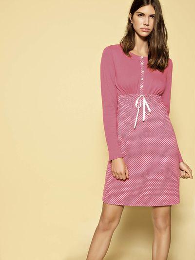 Pigiama donna cotone, pigiama pile, pigiama caldo, pigiama invernale, camicia da notte pesante, pigiama da donna, shopping milano, made in italy, Gaya Boutique negozi di intimo donna e costumi da bagno a Milano.