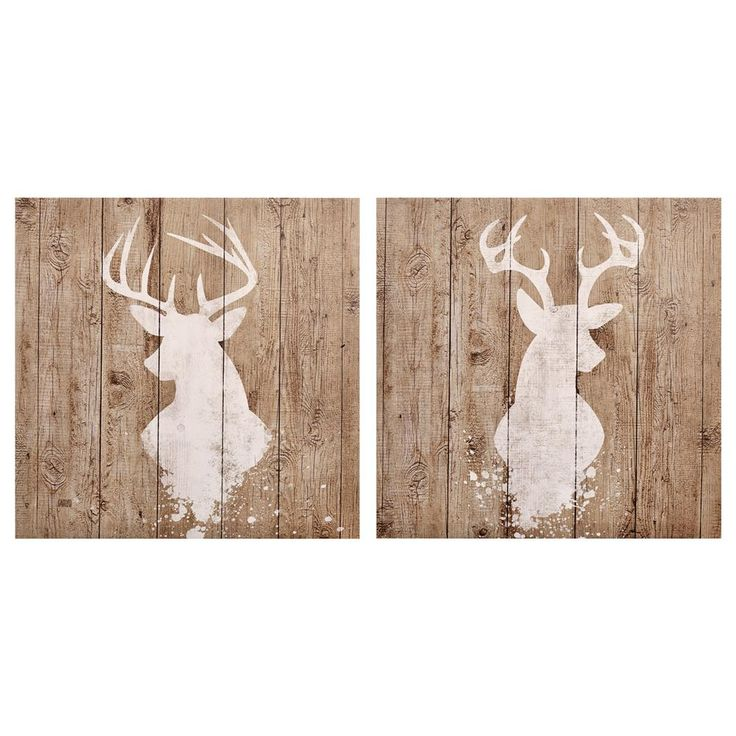 Set of 2 Canvas - Antlers/Canvas + Framed Art/Wall Decor|Bouclair.com