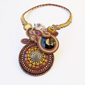 #Handmade from HungarySoutache Jewelry and Hand Embroidered by Soutachebypanka on Etsy