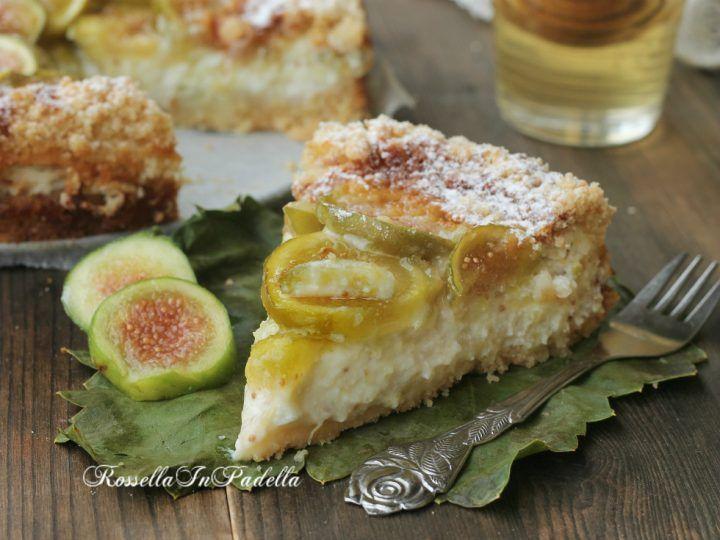 Tarte à la ricotta, figues et miel - Torta Smeralda, con fichi, miele e ricotta