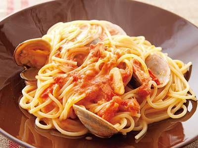 あさりのトマトクリームパスタ |トマトの酸味、生クリームのまったりとした味があさりによくあいます。専門店にも、負けないおいしさ!