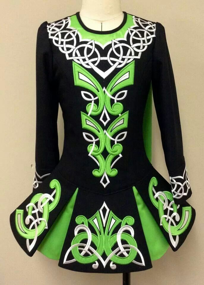 Prime Design Irish Dance Solo Dress Costume ~~ Love the colors and the skirt!