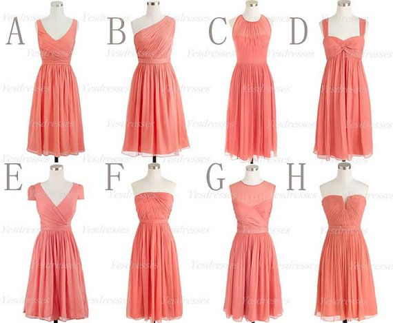 Simple melon color dresses