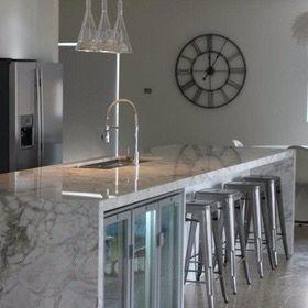 White, Luxury, Marble bench top, Island, Designer Kitchen in Sydney