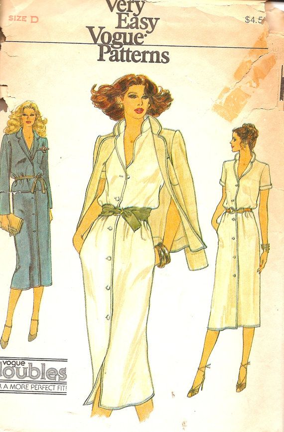 Vintage Sewing Pattern Vogue 7291 Shirt Dress by TenderLane, $10.00