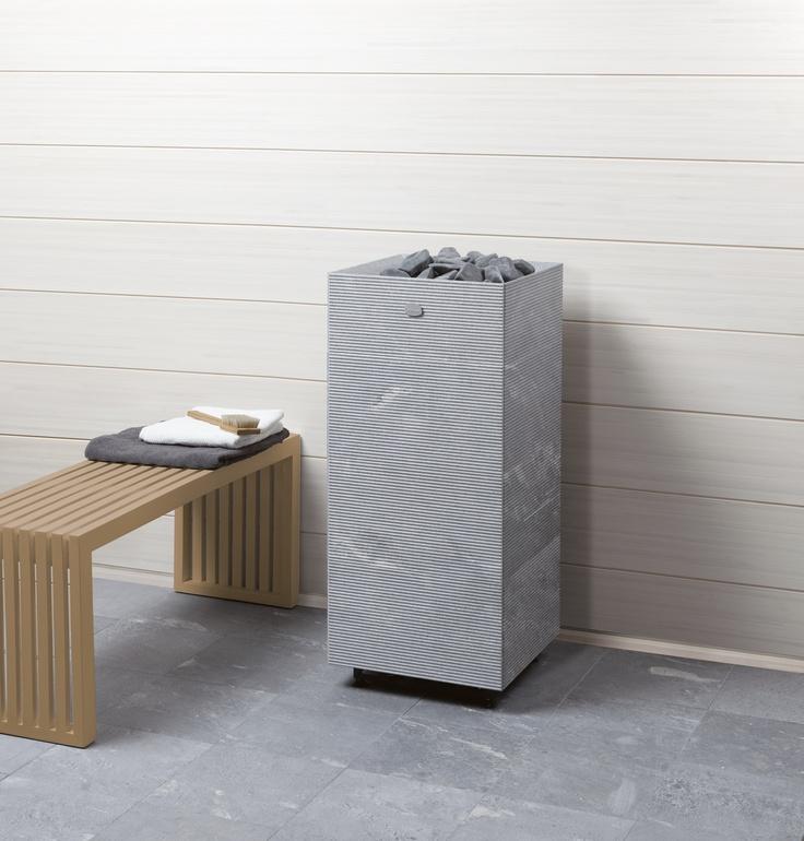 Tulikivi Tuisku soapstone sauna heatermade out of soapstone.