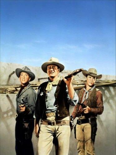 Dean Martin, John Wayne, and Ricky Nelson in RIO BRAVO