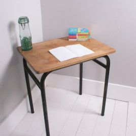 Children's Vintage Tubular Desk/Table with Wooden Top | blueticking.co.uk | Trend | Warehouse Home Design Magazine