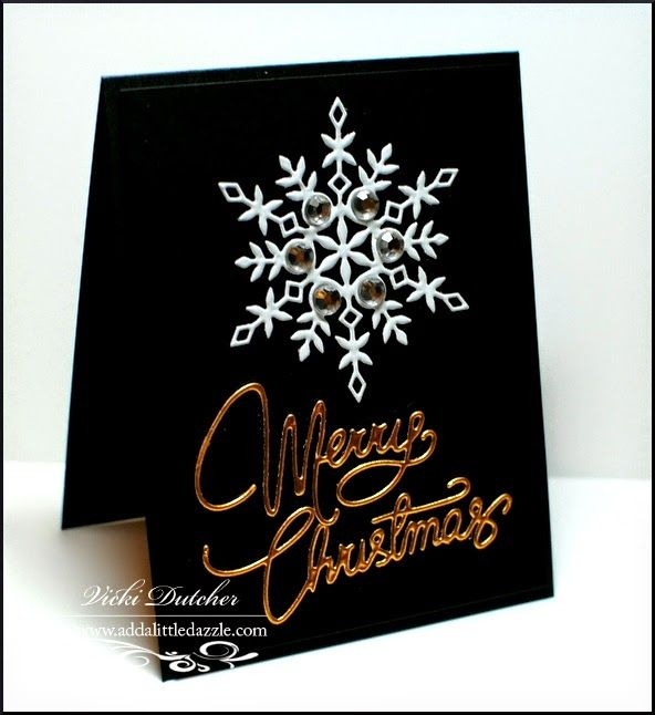 Vicki Dutcher: All I Do Is Stamp –  Dazzling Divas #55 - 12/10/14.  (Simon Says dies: Kate Snowflake.  Clearly Besotted dies: Merry Christmas).  (Pin#1: Christmas: Glitzy... Pin+: Christmas: Snowflake).