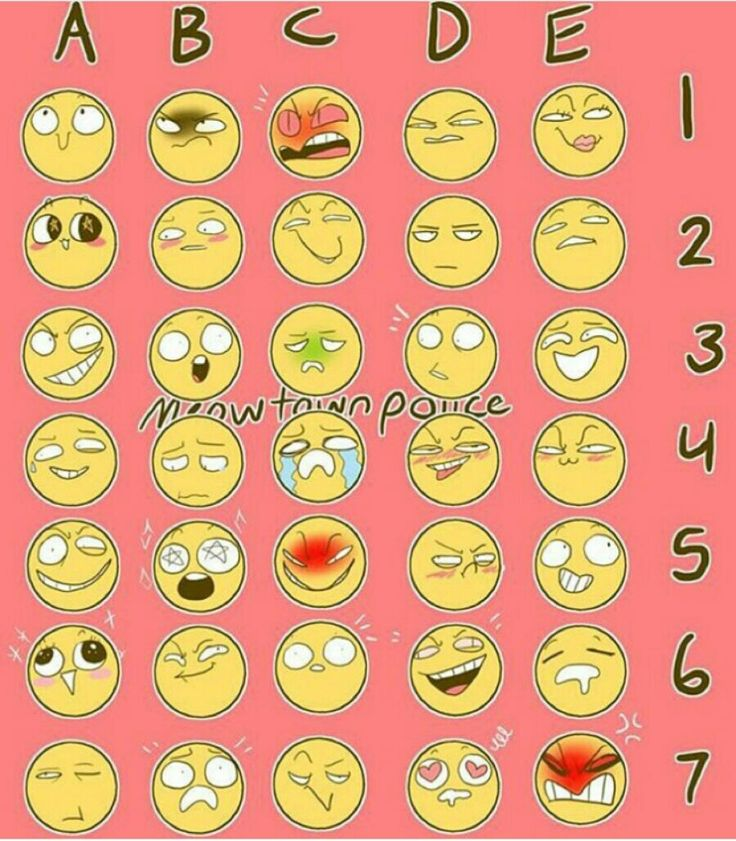 Comment a number and letter and I'll draw a character with that expression! Sounds like a fun challenge :D