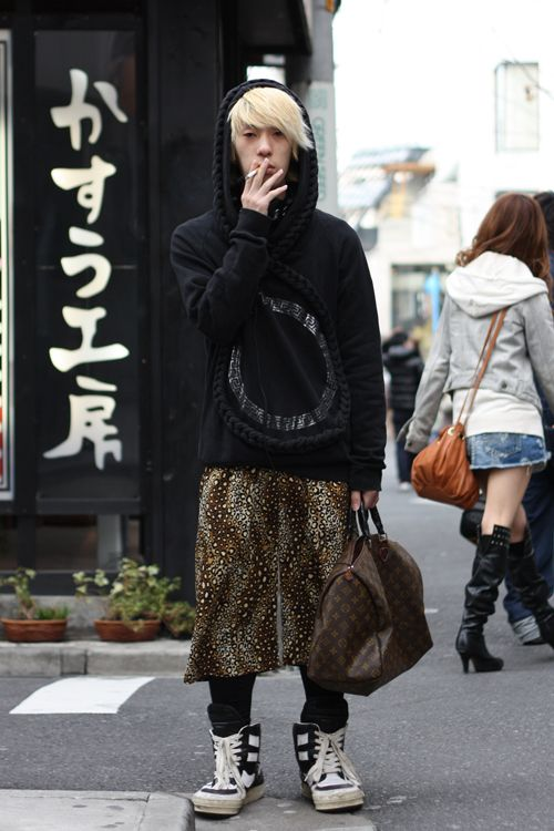 oversized trainers, graphic, pattern, hooded, japan street style