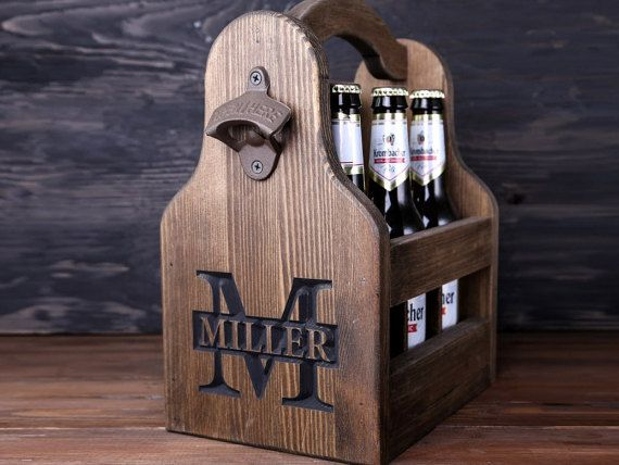 5th Anniversary Gift for Him Personalized Beer by GoodWoodGift
