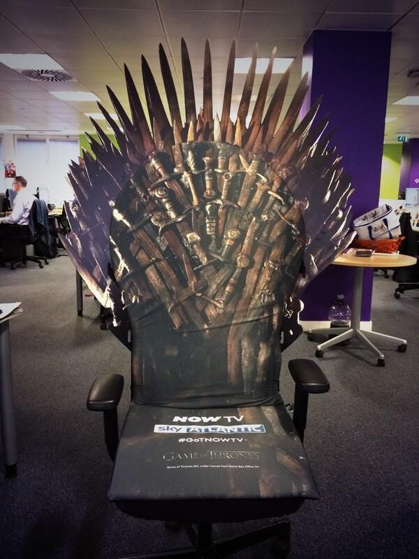 Extremely Rare Game of Thrones: Iron Throne Office Chair ...