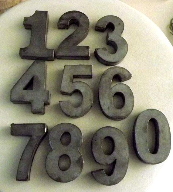 Zinc Metal Numbers 0  9 by TheSmithHotel on Etsy, $6.50