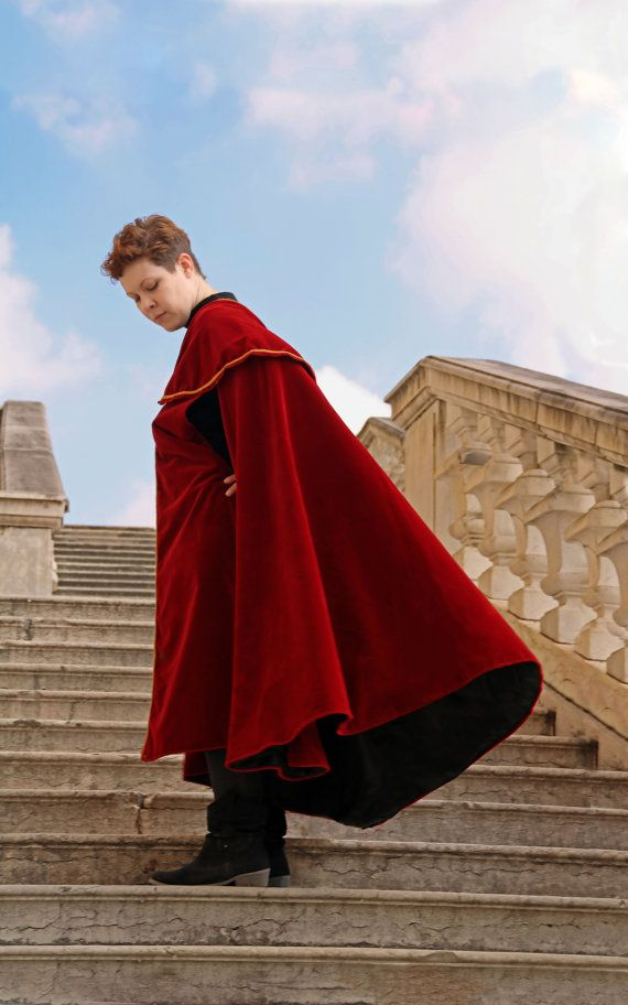 MADE TO ORDER  one shoulder cape cloak mantle by RavenThreadsLab