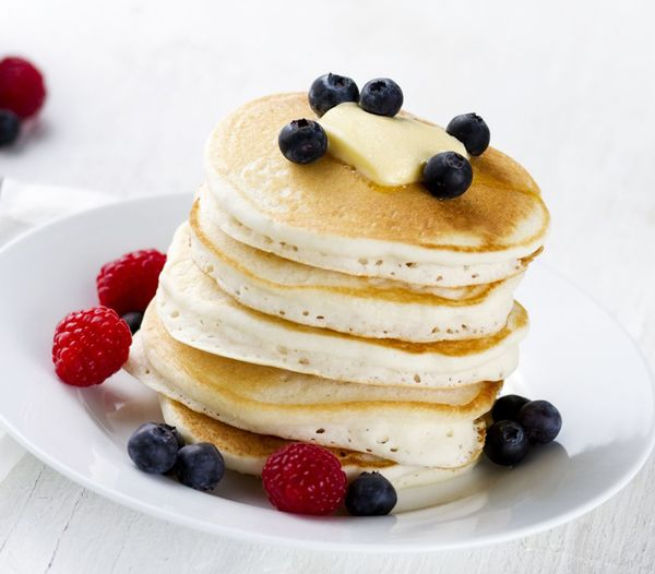 Coconut Flour Pancakes | Eggs, coconut oil, coconut milk, coconut flour, honey, salt, baking powder