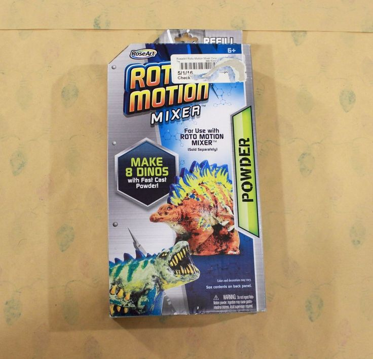 Roto Motion Mixer Dinosaur Kit Refill Pack Lab Toy Game Kids Play Gift Roseart #RoseArt
