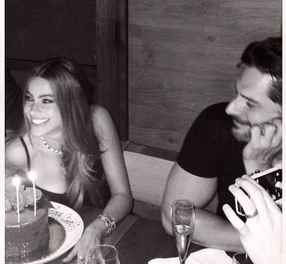 More birthday photos.... Joe and Sophia at her 42 nd Birthday celebration.... She is worth 13 million per Forbes... What a catch!     7/2014