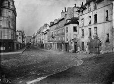 Rue des Fossés Saint-Marcel, aujourd'hui rue de l'Estrapade, vers la fontaine Poliveau. 5ème arr.