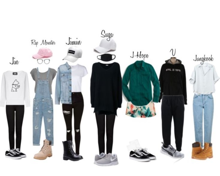 Baepsae Dance Practice Outfits // BTS