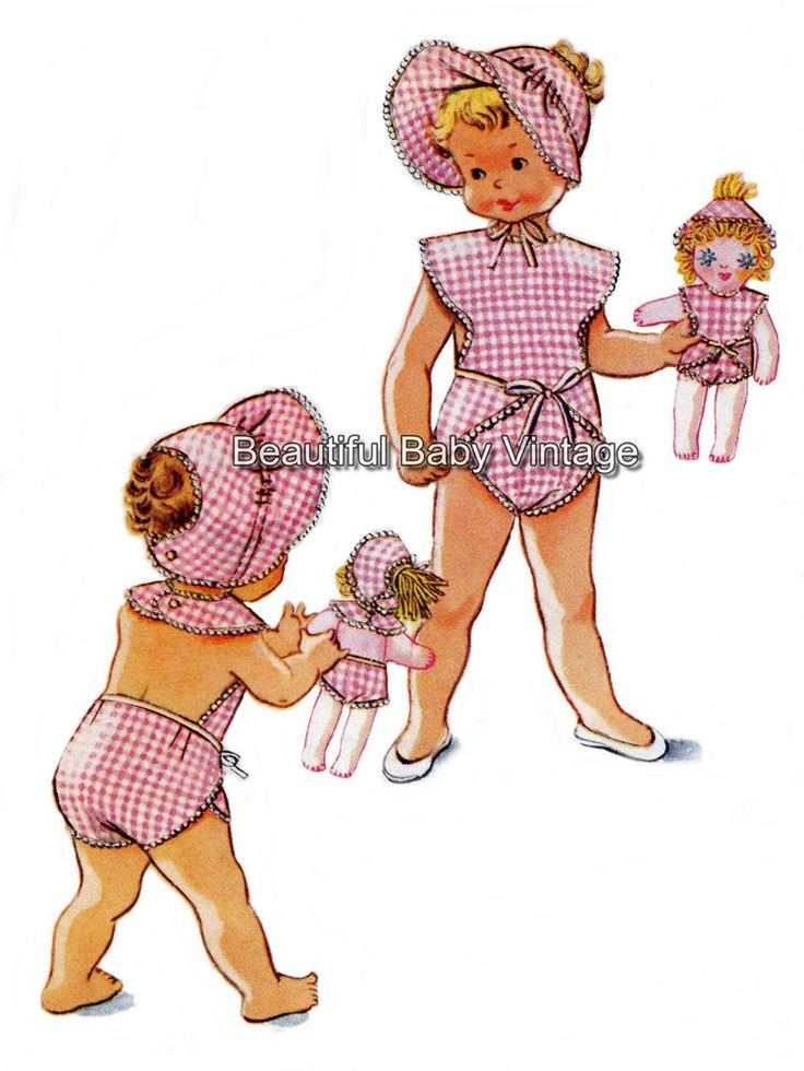 Vintage 1950s Baby Toddler Romper Bonnet Doll Clothes Hat Sz 1 2 Sewing Pattern