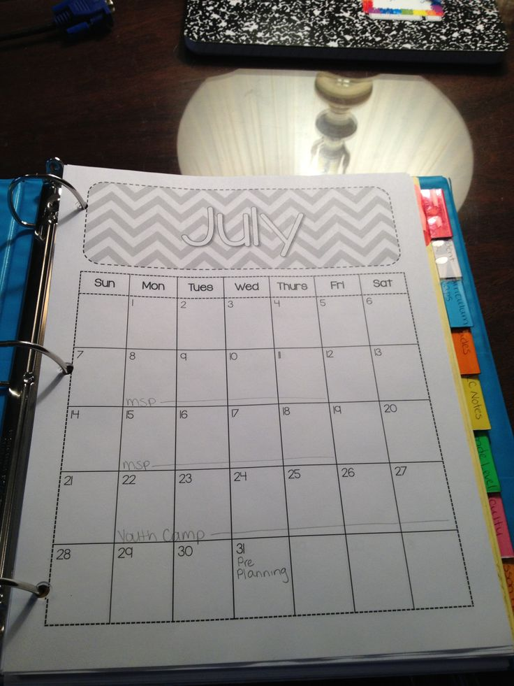 Teacher binder idea!