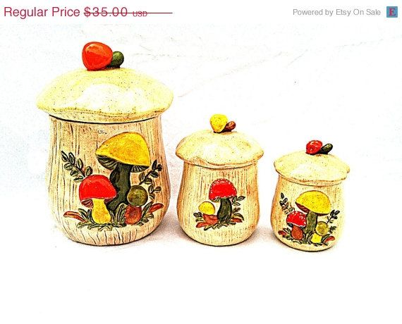 vintage kitchen canister set on 50 retro ceramic canisters 1970s 22585
