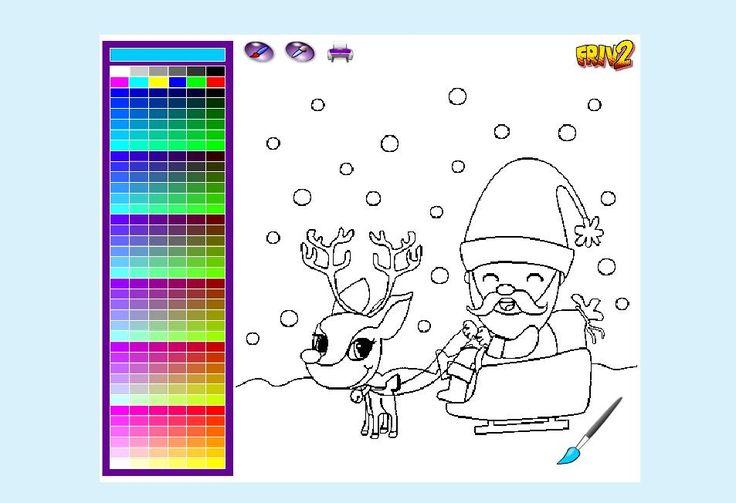 Weihnachtsmann auf einem Schlitten Ausmalbild online spielen auf http://neueaffenspiele.de/weihnachtsmann-auf-einem-schlitten.html
