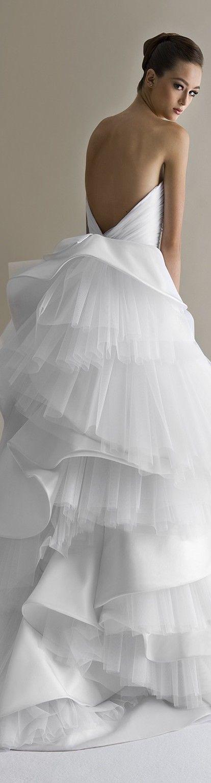 Beautiful back..... https://www.bridebug.com/pin/white-antonio-riva-sposa-2014-satin/