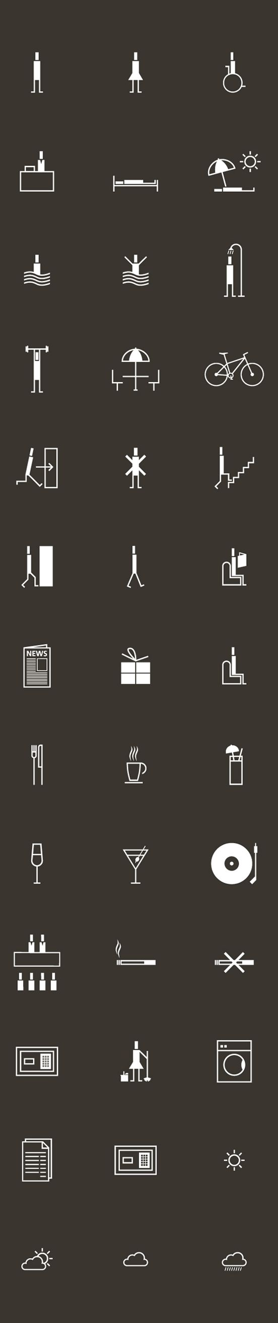 SON VENT PICTOGRAMS by GAIZKADESIGN , via Behance