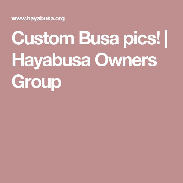 Custom Busa pics! | Hayabusa Owners Group