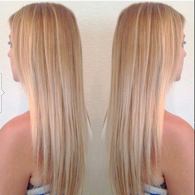 peachy blonde hair