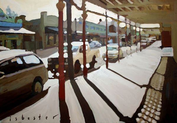 'Canowindra Streetscape'- Framed Print | David Isbester GALLERY