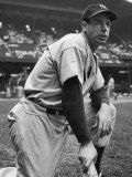 Baseball Player Joe Di Maggio Kneeling in His New York Yankee Uniform  -  photo by Alfred Eisenstaedt