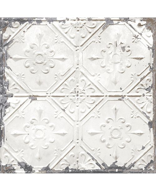 Brewster Home Fashions Vintage Tin Tile Peel And Stick Wallpaper Reviews Wallpaper Home Decor Macy S Vintage Tin Tiles Peel And Stick Wallpaper Tin Ceiling