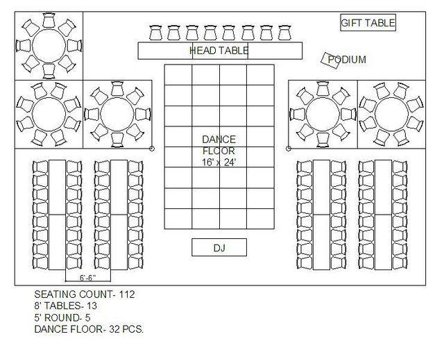 circle table seating diagram