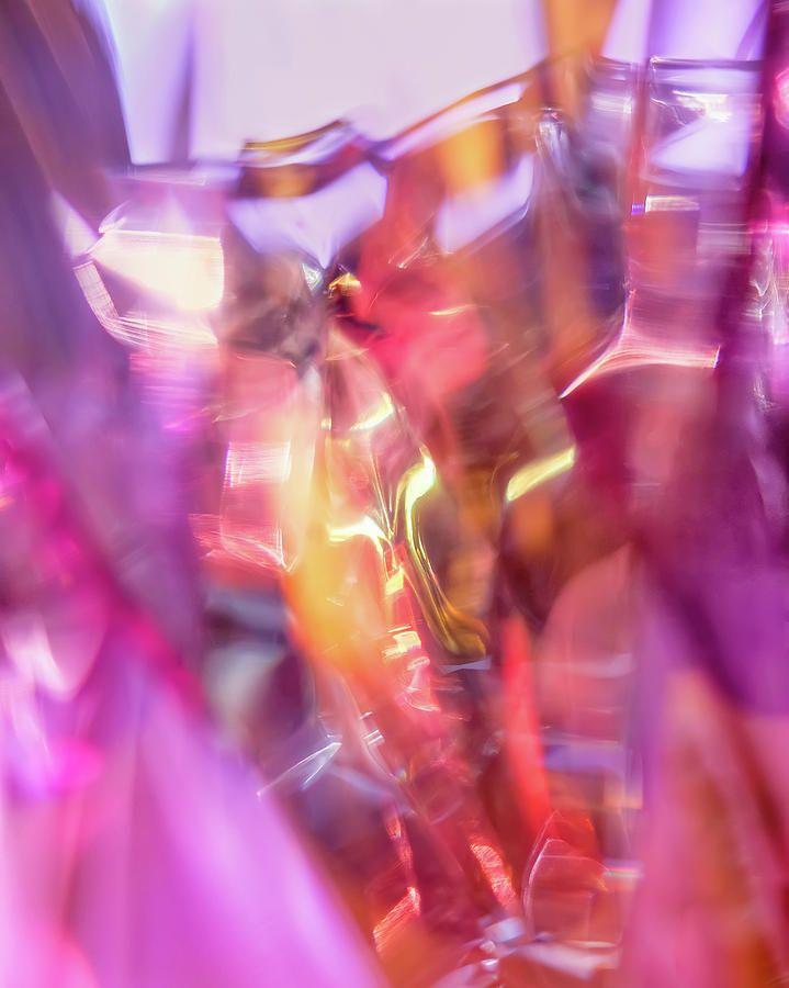 Jane Star Photograph - Pink Shine by Jane Star  #JaneStar #Abstract #Pink #Glass #ArtForHome #InteriorDesign #HomeDecor