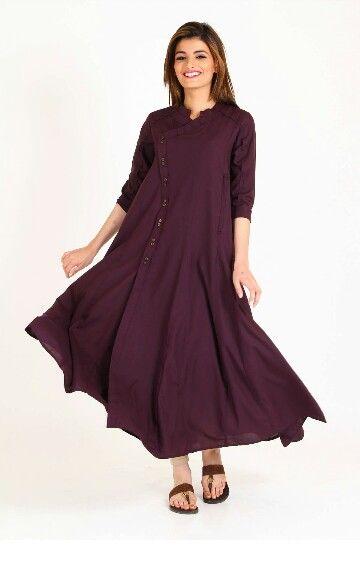 98a450cbd384d Angrakha style loose frock | Pregnancy wear Pakistan | Dresses, Maternity  dresses, Fashion dresses