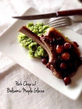 ポークチョップ・バルサミコ酢とメープルシロップのソース。|レシピブログ