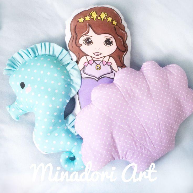 Mermaid pillow.