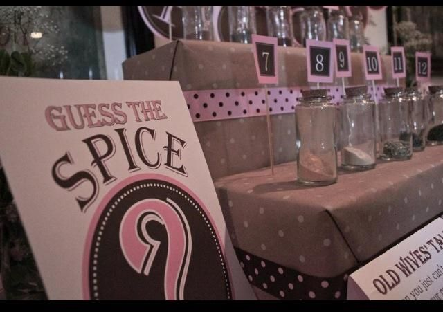 Guess the spice game, sugar and spice baby shower