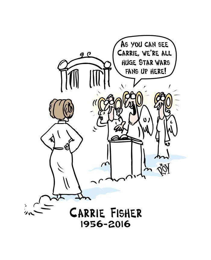Carrie Fisher ilustraciones Princesa Leia 4