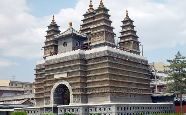 Hohhot; Five Pagoda Temple. Besides the exquisite five pagodas, there are also 1560 embossment buddha images, thus also named as Thousand Buddha Pagoda.