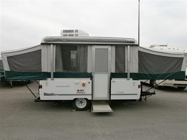Coleman SEA PINE Pop Up - this was the same model as our first camper trailer.  We put a lot of miles on it, traveling even with 4 adults and 2 dogs.  Lots of fun!