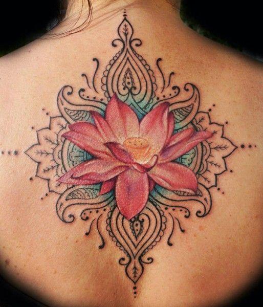 tatuagem da flor de lotus 1