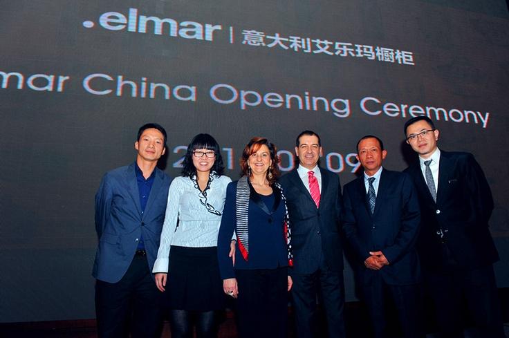 Inaugurazione Showroom Elmar cucine a Shangai, Cina